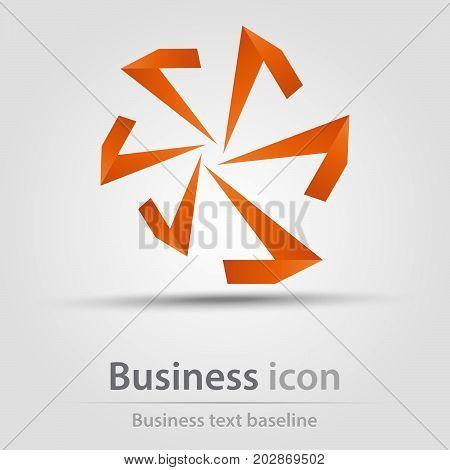 Originally created business icon with orange mill