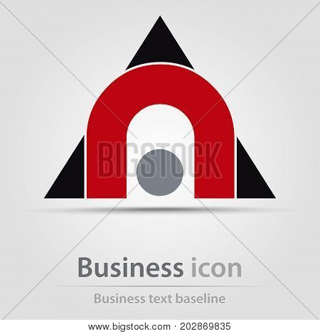 Originally created business icon with brifge and triangles