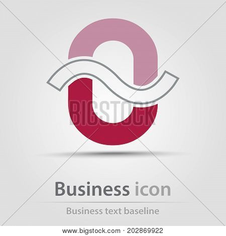 Originally created business icon with wave crossed O letter