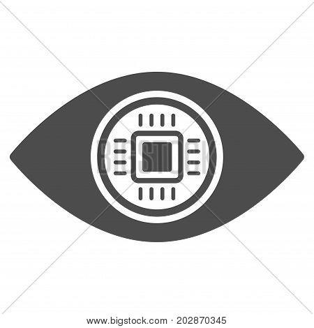 Robotics Vision vector icon. Style is flat graphic gray symbol.