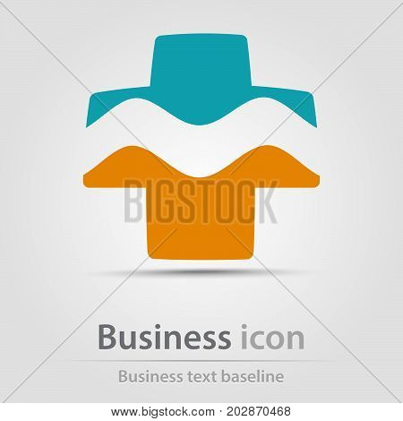 Originally created business icon with hatched cross