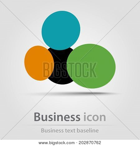 Originally created business icon with polka dots