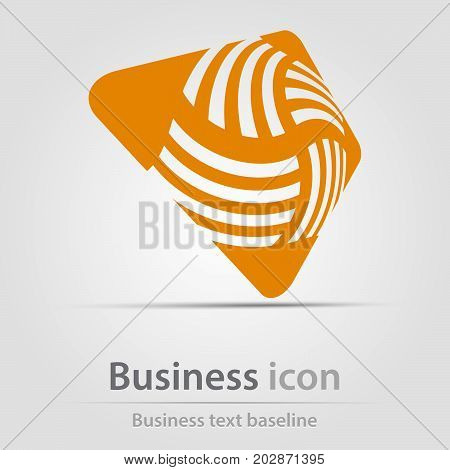 Originally created business icon with hatched rounded square