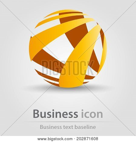 Originally created business icon with 3D like ball