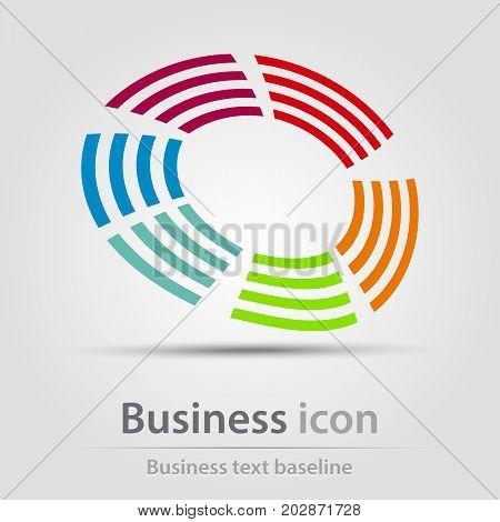 Originally created business icon with rainbow bar circle