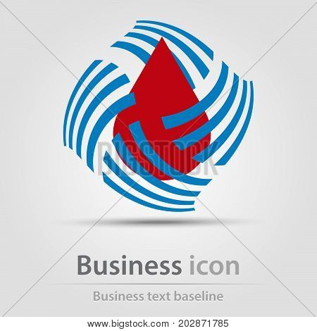 Originally created business icon with blood drop