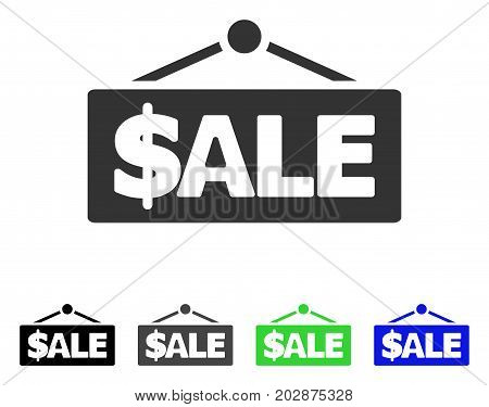 Sale Label icon. Vector illustration style is a flat iconic sale label symbol with black, grey, green, blue color variants. Designed for web and software interfaces.