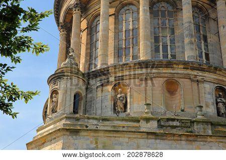 External details of the Basilica of Notre Dame in Boulogne sur Mer, Cote d'Opale, Pas de Calais, Hauts de France