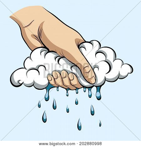 To squeeze rain out of the cloud.