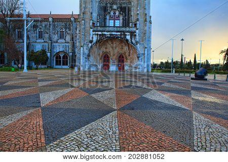 Jeronimo monastery in lisbon portugal . unesco world heritage site