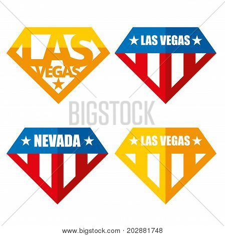 United states of America Vector logos USA Las Vegas Nevada