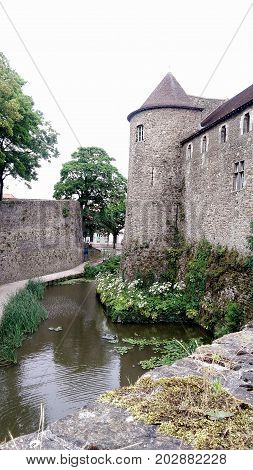 view on the ramparts ramble in boulogne sur mer ( france )