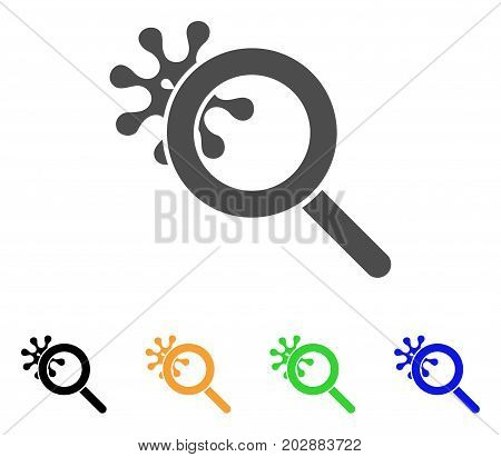 Explore Virus vector icon. Style is a flat graphic symbol in grey, black, yellow, blue, green color versions. Designed for web and mobile apps.