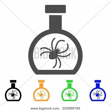 Parasite Container Retort vector icon. Style is a flat graphic symbol in grey, black, yellow, blue, green color versions. Designed for web and mobile apps.