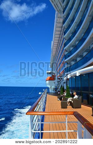Open Deck Of Royal Princess Ship