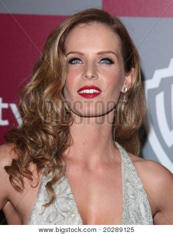LOS ANGELES - JAN 16:  Rebecca Mader arrives to the 12th Annual WB-In Style Golden Globe After Party  on January 16, 2011 in Beverly Hills CA