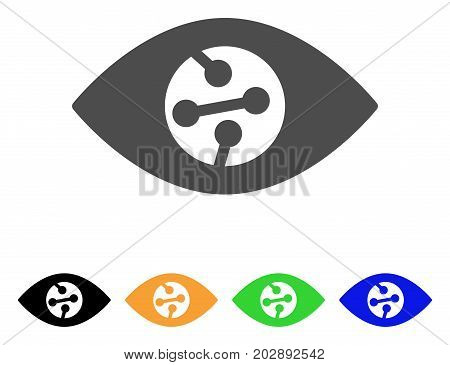 Smart Contact Lens vector icon. Style is a flat graphic symbol in gray, black, yellow, blue, green color versions. Designed for web and mobile apps.