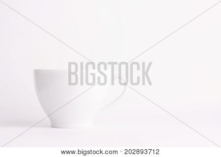 white coffee tea cup on a white background