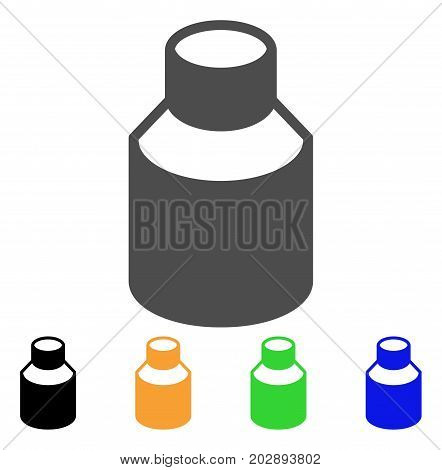 Vial vector pictograph. Style is a flat graphic symbol in grey, black, yellow, blue, green color variants. Designed for web and mobile apps.