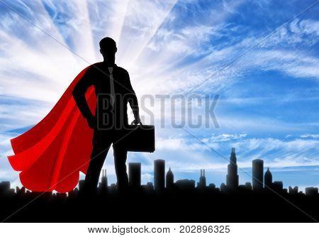 Successful Superhero Businessman