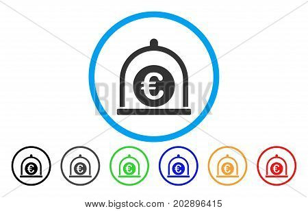 Euro Standard rounded icon. Vector illustration style is a gray flat iconic euro standard symbol inside a circle. Additional color variants are black, grey, green, blue, red, orange.