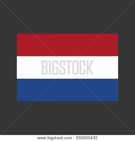 Netherlands flag on the gray background. Vector illustration