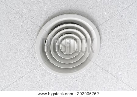 Ventilation On A White Ceiling
