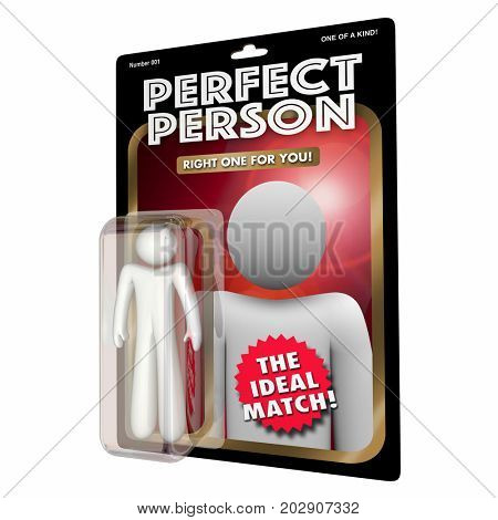 Perfect Person Action Figure Best Choice Candidate 3d Illustration