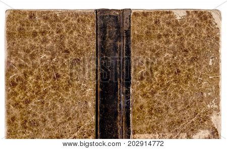Vintage Old Book Cover Isolated On White