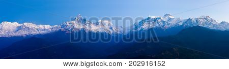 Panoramic Landscape Annapurna Himalaya Range