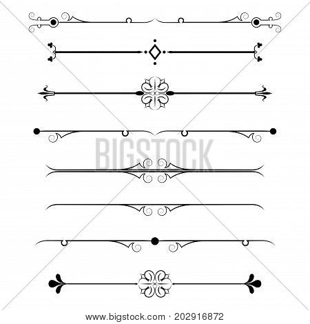 Dividers Isolated On White Background