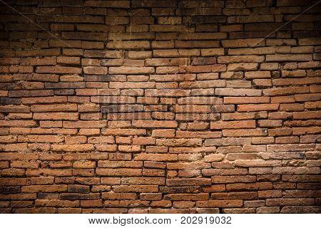 ancient old brick wall decadent background dark