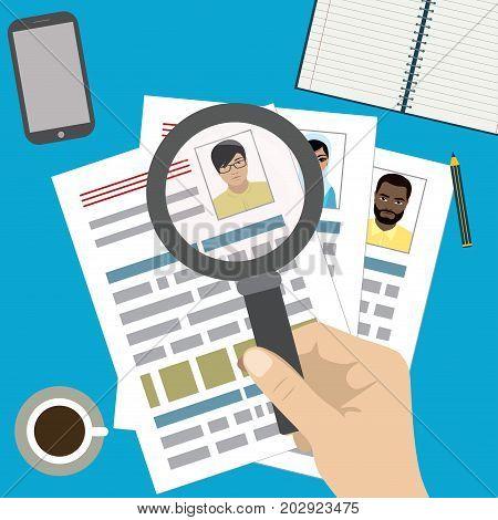 Searching Professional Staff, Work, Analyzing Resume