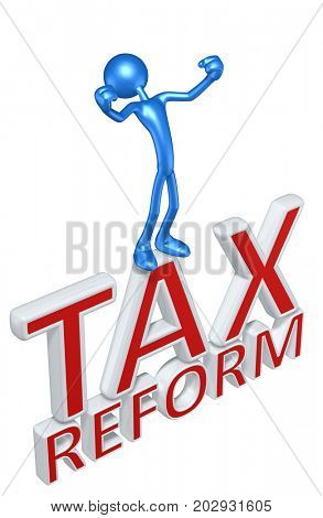 Tax Reform With The Original 3D Character Illustration