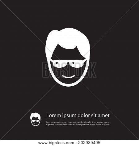 Sunglasses Vector Element Can Be Used For Anonymous, Sunglasses, Human Design Concept.  Isolated Anonymous Icon.