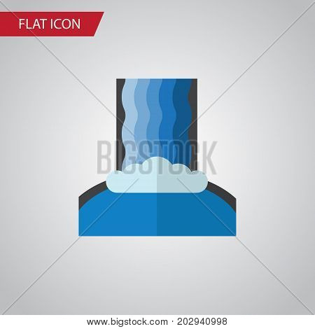 Cascade Vector Element Can Be Used For Waterfall, Cascade, River Design Concept.  Isolated Waterfall Flat Icon.