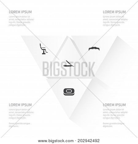 Icon Glamour Set Of Soap, Furniture, Straight And Other Vector Objects