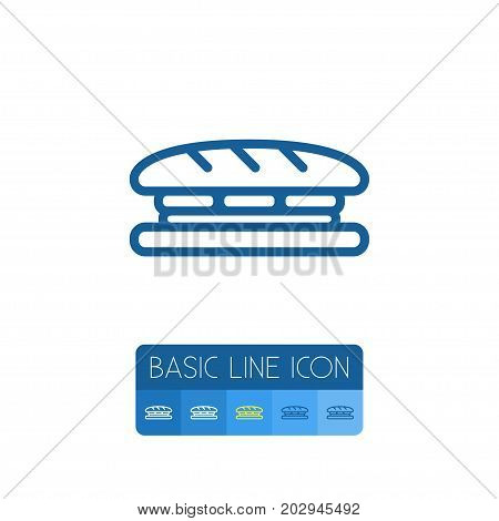 Toast Vector Element Can Be Used For Sandwich, Toast, Breakfast Design Concept.  Isolated Sandwich Outline.