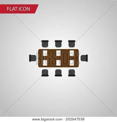 Boardroom Vector Element Can Be Used For Boardroom, Table, Conference Design Concept.  Isolated Table Flat Icon.