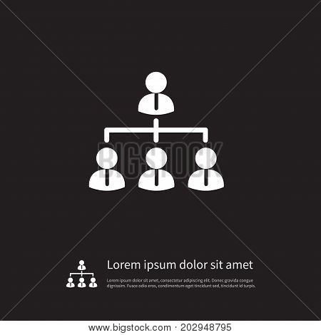 Corporate Vector Element Can Be Used For Hierarchy, Corporate, Team Design Concept.  Isolated Team Icon.