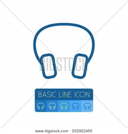 Earmuff Vector Element Can Be Used For Headphone, Earmuff, Headset Design Concept.  Isolated Headphone Outline.