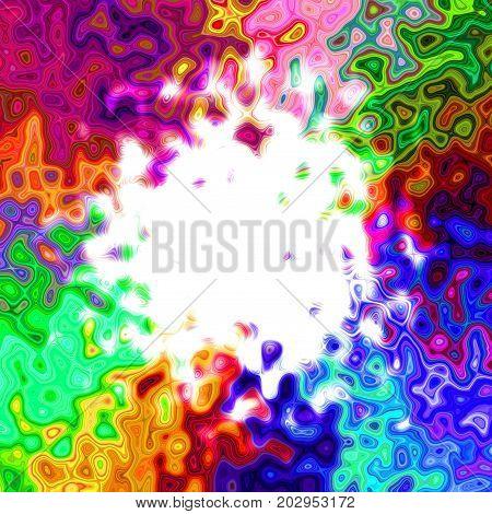Splatter deformed blotched motley circle abstract tile