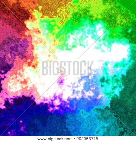 Blotchy deformed splattern colorful abstract square background