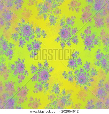 Dreamy yellow and pink floral design image