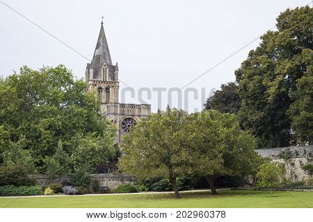 Oxford United Kingdom - 3 September 2017: View of the Corpus Christi Auditorium in the city of Oxford.