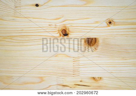 The texture of the glued board. Glued furniture board background. Natural sawn timber texture poster