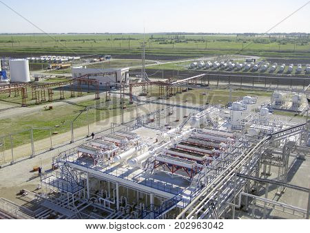 The Area With Equipment For Cooling Of Refined Petroleum Product
