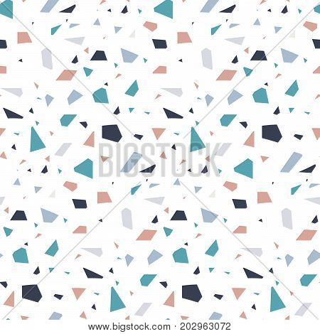 Abstract granite stone terrazzo floor texture background. Concrete seamless tile texture design vector.