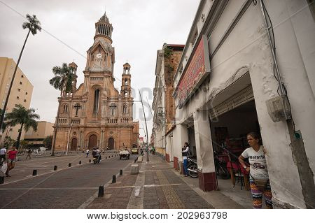 July 10 2017 Palmira Valle de Cauca: the centre of the city which is considered one of the most dangerous places in the world with a high crime rate