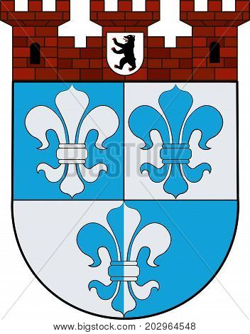 Coat of arms of Wilmersdorf an inner-city locality of Berlin Germany. Vector illustration from the
